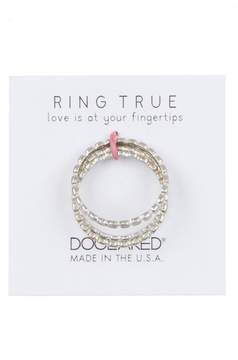 Dogeared Ring True Stack Ring - Set of 3 - Size 5