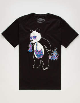 Riot Society Panda Space Bubbles Mens T-Shirt