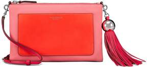 Tory Burch COLOR-BLOCK LEATHER TASSEL CROSS-BODY - BRIGHT AZALEA - STYLE