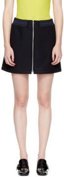 A.P.C. Navy Charlotte Zipped Miniskirt