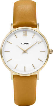 Cluse CL30034 Minuit leather watch