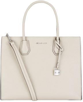 Michael Kors Large Mercer Leather Tote Bag - GREY - STYLE