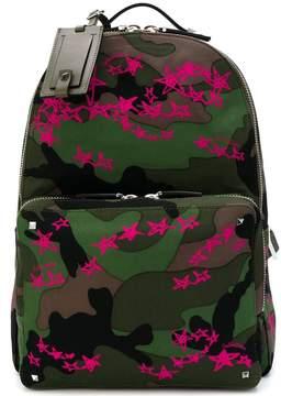 Valentino Camouflage Zandra Stars backpack