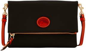 Dooney & Bourke Nylon Foldover Zip Crossbody - BLACK - STYLE