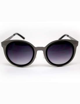 ELOQUII Round Metal Detail Sunglasses