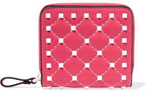 Valentino Garavani The Rockstud Spike Quilted Leather Wallet - Pink