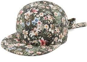 Maison Michel Nick Hawaii-print tie back cap