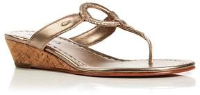 Bernardo Thong Wedge Sandals - Matrix
