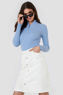 NA-KD Na Kd Button Up Long Denim Skirt