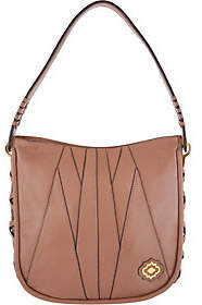 Oryany Pebble Leather & Suede Hobo Handbag-Mercedes