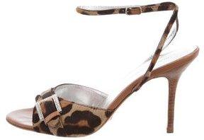 Dolce & Gabbana Animal Print Ponyhair Sandals