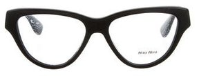 Miu Miu Resin Logo Eyeglasses