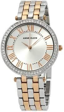 Anne Klein Silver Dial Two-tone Ladies Watch
