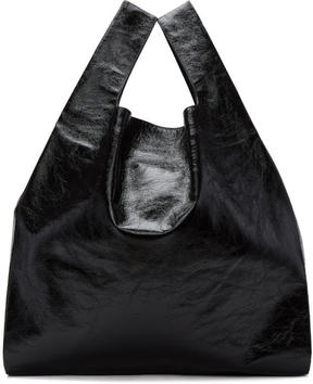 MM6 MAISON MARGIELA Black Patent Shopping Tote