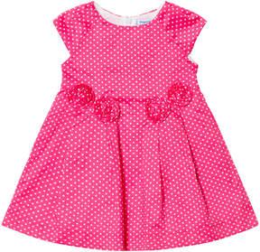 Mayoral Fuchsia Spot Printed Dress