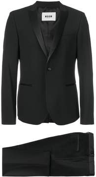 MSGM satin lapel suit