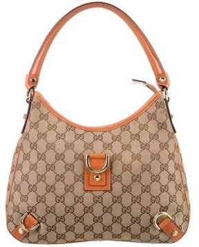 Gucci GG Canvas Abbey Hobo - BROWN - STYLE