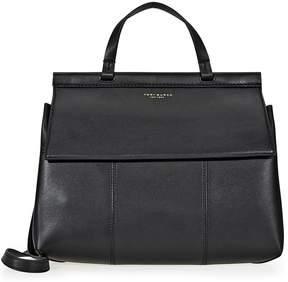 Tory Burch Block-T Leather Satchel- Black - ONE COLOR - STYLE