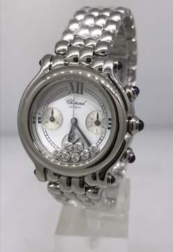 Chopard Happy Sport Chronograph White Dial Ladies Watch
