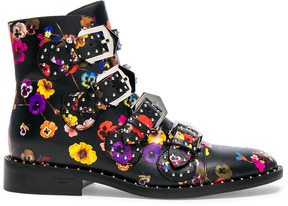 Givenchy Night Pansies Elegant Studded Leather Ankle Boots
