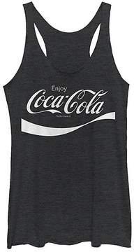 Fifth Sun Black Heather Coca-Cola Racerback Tank - Juniors