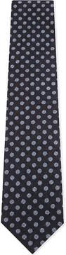 Eton Polka-dot silk-cotton tie