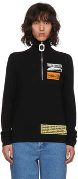 J.W.Anderson Black Bubblegum Zip Sweater