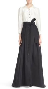 Carolina Herrera Women's Silk Taffeta Trench Gown