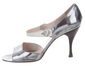 Marc Jacobs Metallic Leather Sandals