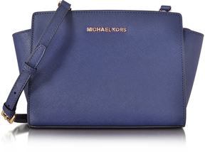 Michael Kors Selma Medium Admiral Blue Saffiano Leather Messenger Bag - ONE COLOR - STYLE