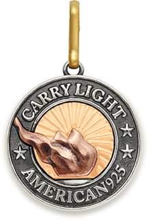 Alex and Ani LIBERTY COPPER | CARRY LIGHTTM 14kt Gold Center Necklace Charm, Medium