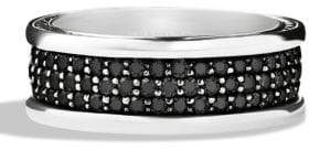 David Yurman Pave Silver Ring
