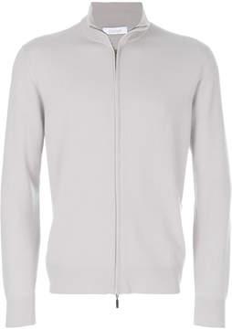 Cruciani long sleeved zipped sweater