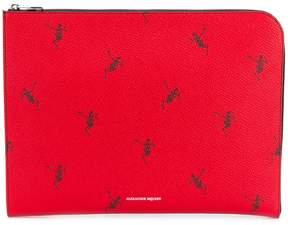 Alexander McQueen Dancing Skeleton Half-Zip pouch