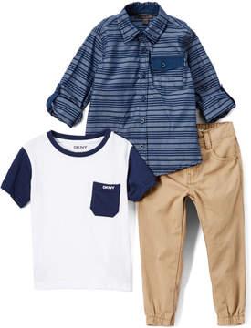 DKNY White Unplug Button-Up Set - Toddler