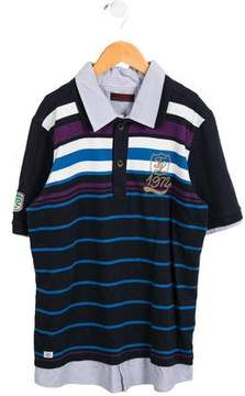 Catimini Boys' Striped Embroidered Polo