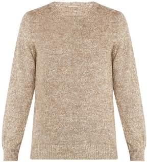 Massimo Alba Crew-neck melange-knit sweater