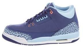 Nike Jordan Boys' 3 Retro GG Purple Dust Sneakers