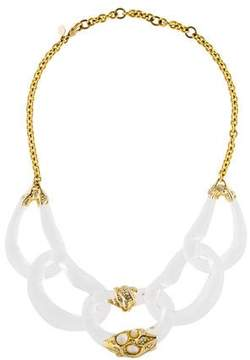 Alexis Bittar Mother of Pearl Doublet & Lucite Ophelia Necklace
