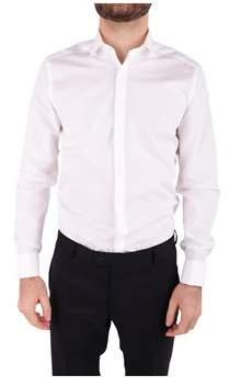 Corneliani Men's White Cotton Shirt.