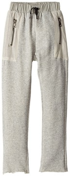 Hudson High Tech French Terry Mesh Jogger in Grey Heather Boy's Casual Pants