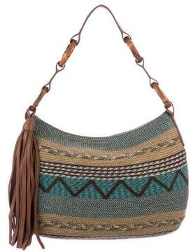 Eric Javits Bamboo-Accented Woven Shoulder Bag