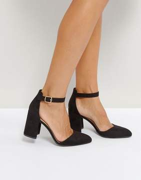 Qupid Block Point High Heels