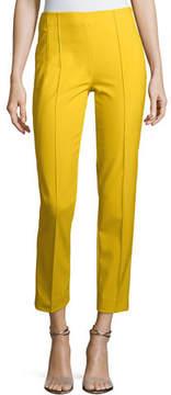 Escada Hepburn Techno Ankle-Zip Pants