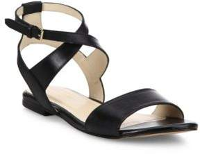 Cole Haan Fenley Leather Ankle-Wrap Sandals