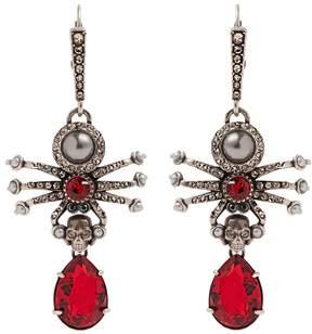 Alexander McQueen Embellished-spider earrings
