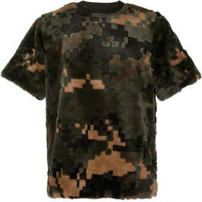 Sacai furry camouflage T-shirt
