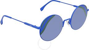 Fendi Blue Gradient Round Sunglasses FF 0248/S PJP/GB