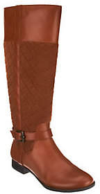 Isaac Mizrahi Live! Quilted Tall Shaft RidingBoots w/ Buckle