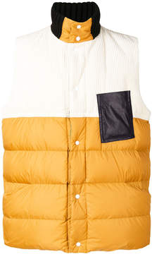Marni colour blocked padded gilet